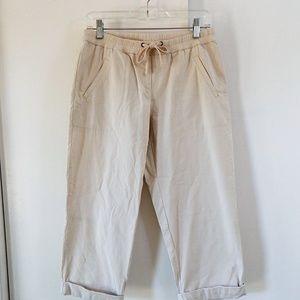 J JILL pants capri cuffed elastic waist petite XSP